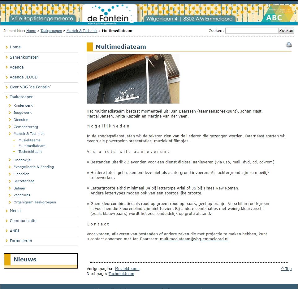 Oude Site – Multimediateam