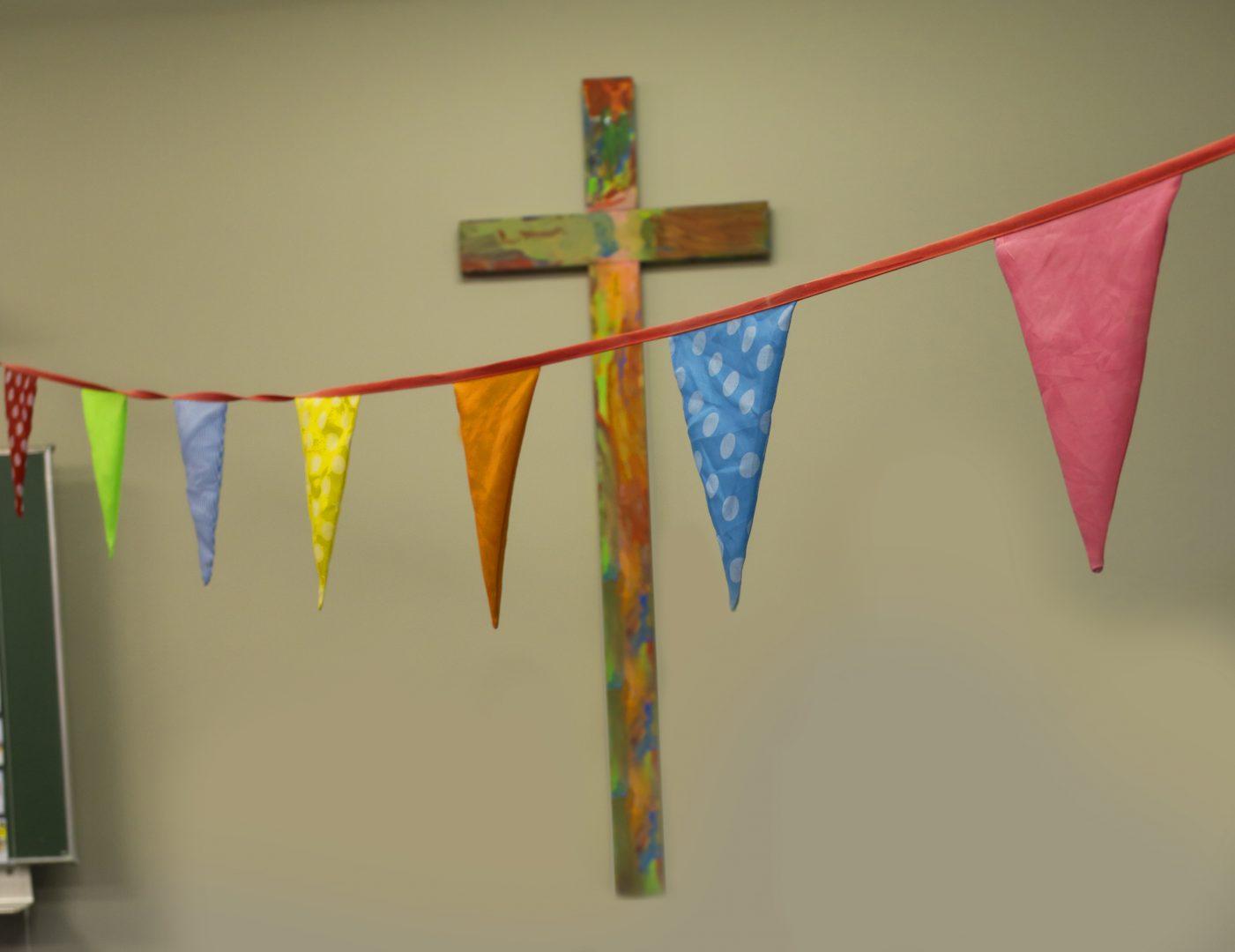 Vlaggetjes met kruis